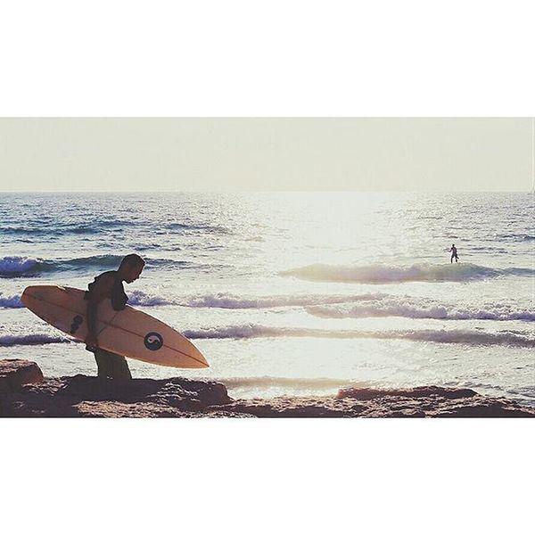 Ocean again. Waves Surf Yinyang Israel Beach Telaviv Jaffa Sunset
