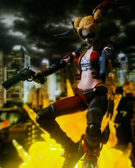 Super happy fun time! Toy Photography Toys Action Figures BANDAI Tamashiinations Sh Figuarts Shf Injustice Dccomics Harleyquinn Harley Quinn Villains