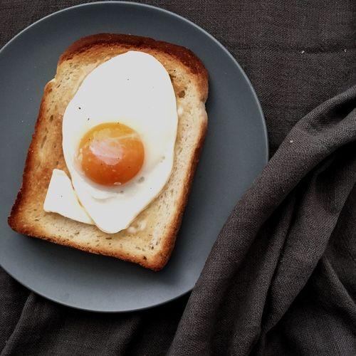 Egg On Toast Served On Plate