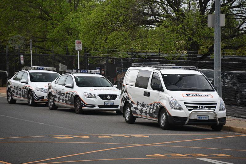 Canberra Australia Capital Territory Capital Cities  Hauptstadt Australien Police Police Car Police Cars Polizei Polizeiauto Polizeiautos