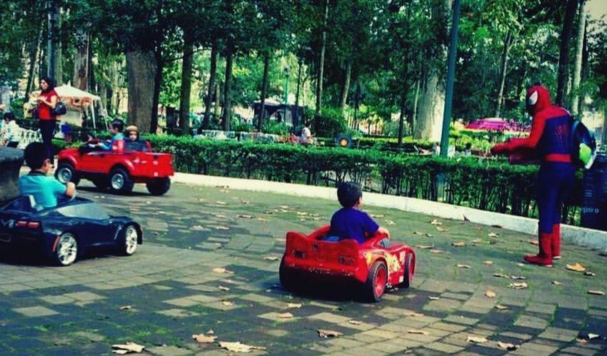Amazing Spiderman Land Vehicle Spiderman Park Transportation Children Child Dream Comics Ride Driver School Pedestrian Walk
