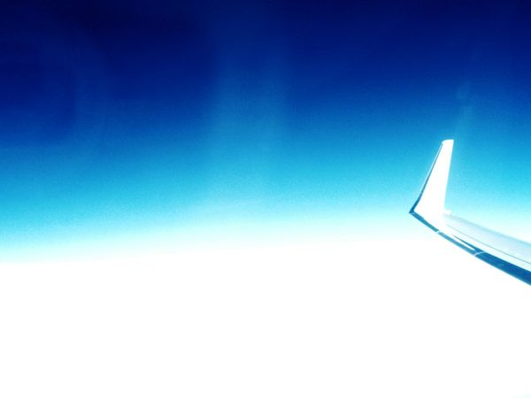 Traveling Home For The Holidays Blue Sky Clear Sky No People Outdoors Day Innovation Heaven Nature Cold Temperature Skies White Color Freshness Crisp White Blue Sky Blue Skies Air Airplane Aircraft Kristinejensson Upintheair Clouds Outdoor Photography