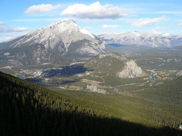 Banff  Rocks Mountains Clouds Blue Sky Nature Tunnel Mountain View From Above Forest Banff Springs Hotel Town Of Banff Gondola Ride