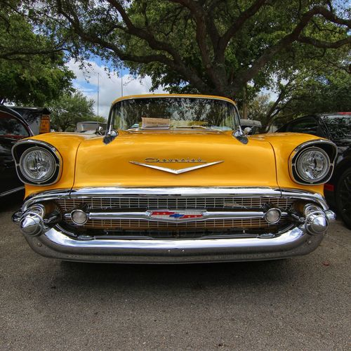Brilliant Yellow Yellow Car Transportation Collector's Car Automobile Cars Car Show Chevrolet Chevy Bel Air Hot Rod Hot Rods Classic Car Classic Classic Cars Vintage Vintage Cars Vintage Vehicles Antique Furniture Antique Car Chrome Kustom Kulture Street Machine Vehicle Culture EyeEmNewHere