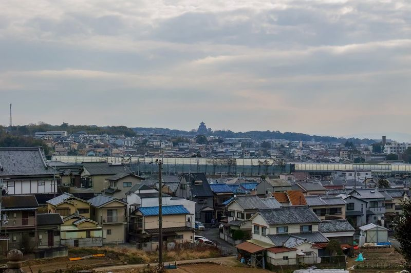 Momoyama Castle Kyoto Landscape Landscape_Collection Landscape_photography Taking Photos EyeEm Best Shots EyeEm Gallery From My Point Of View The Week on EyeEm Built Structure Cloud - Sky Building Exterior Architecture Sky City Building Cityscape Residential District TOWNSCAPE House