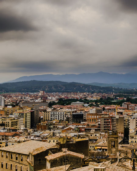 Catalonia City Cityscape Cloudy Girona SPAIN Architecture Building Building Exterior Buildings Built Structure City Cityscape Cloud - Sky Crowd Crowded Gameofthrones High Angle View Medieval Mountain Nature Outdoors Residential District Sky TOWNSCAPE