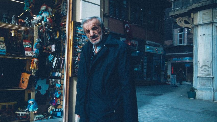 Mature Adult Only Men Looking At Camera Night Portrait One Man Only Adults Only Indoors  Nightlife One Mature Man Only One Person Smiling Adult People Human Body Part Worldstreetphotography Street Photography Istanbulstreetphotography Streetphotography City Life City Street