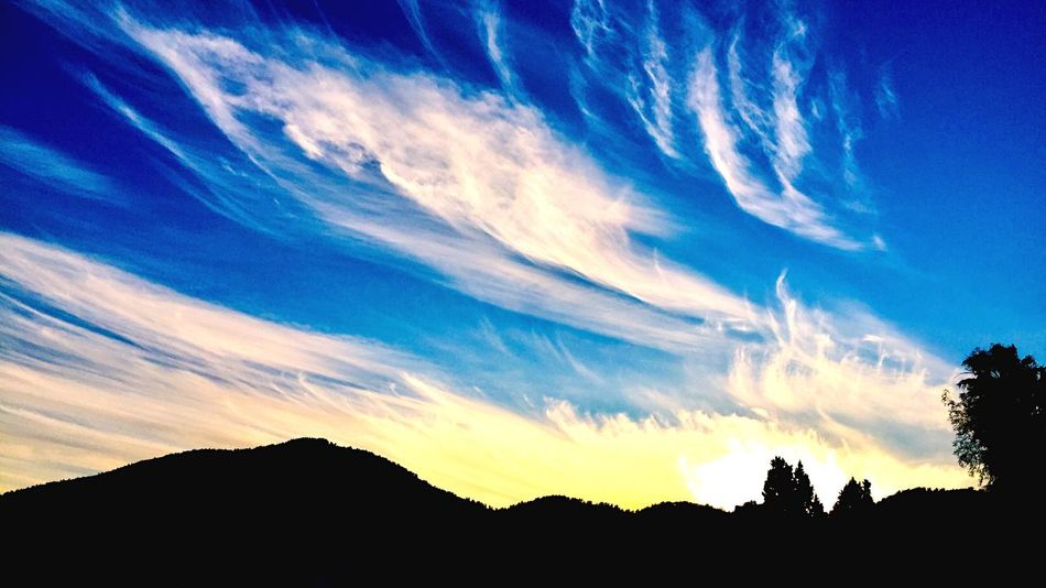 Sky Cloud - Sky Silhouette Beauty In Nature Scenics - Nature Tranquility Tranquil Scene First Eyeem Photo