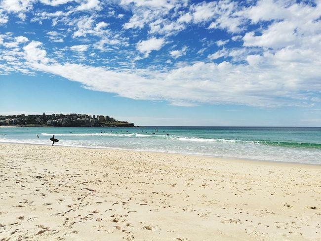 Bondi Beach, Sydney - Australia Beach Sand Sea Water Sky Vacations Cloud - Sky Horizon Over Water Blue Nature Sunny Summer Travel Destinations Landscape Water's Edge Day Tranquility Outdoors Wave Scenics Surf Surfing Australia Bondi Beach