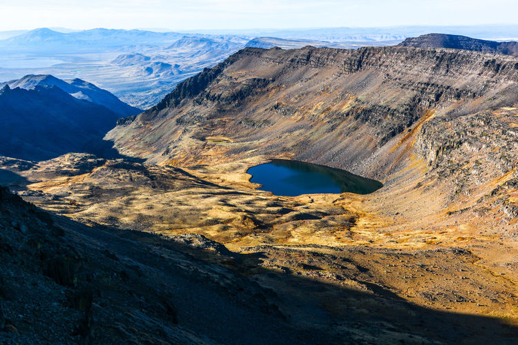Sunrise on Steens Mountain, way out in the High Desert of Oregon. Wildhorse Lake catches the early rays of light in a valley carved by a long-gone glacier. Morning Nature Oregon Pacific Northwest  Beauty In Nature Dawn Day Geology Landscape Mountain Nature No People Outdoors Physical Geography Scenics Steens Mountains Sunrise Tranquil Scene Tranquility Travel Wilderness Wildhorse Lake