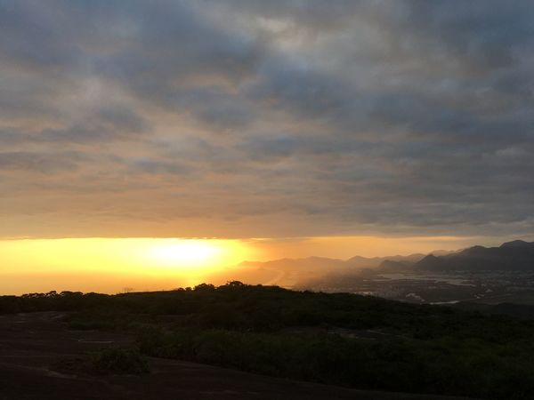 Puesta del sol en pedra bonita Pedra Bonita Sunset Beauty In Nature Nature Scenics Sky Landscape Tranquil Scene