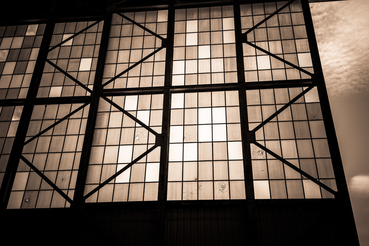LOW ANGLE VIEW OF SKYLIGHT AGAINST BUILDING