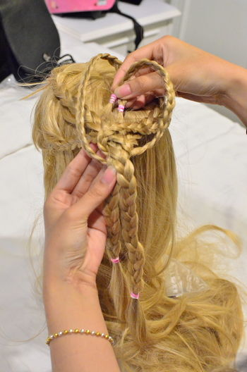 Hair Adult Body Part Braided Hair Close-up Finger Focus On Foreground Hair Hairstyle Hand Holding Human Body Part Human Hair Human Hand Indoors  Leisure Activity One Person Real People Tangled Tied Up Wig Women