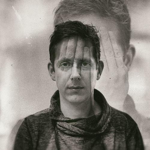 Double exposure portrait man