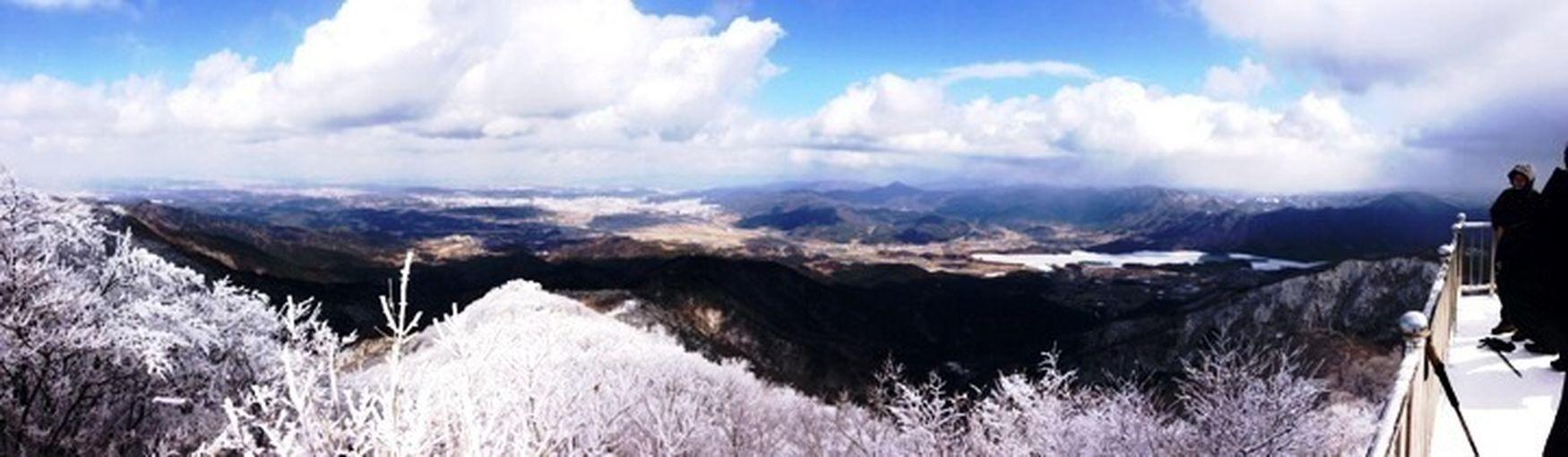 추억돋게~ Moakmountain 정산에서 찍었던 사진 Mountain View The Top Of A Mountain Snow