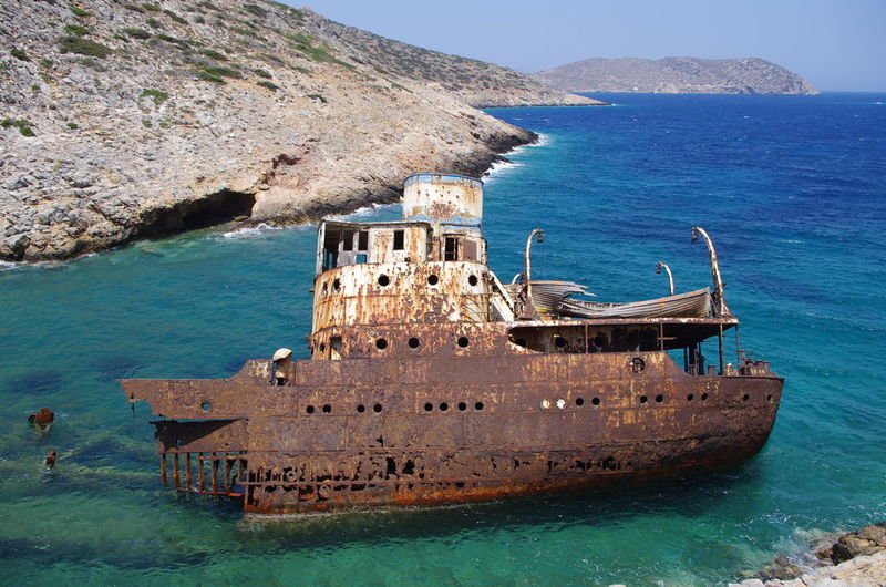 GREECE ♥♥ Griechenland Griechische Inseln Amorgos Amorgosisland Beauty In Nature Cliff Day Greece Horizon Over Water Nature Nautical Vessel No People Old Ruin Outdoors Rock - Object Rock Formation Scenics Sea Shipwreck Shipwreck Bay Sky Transportation Water Waterfront