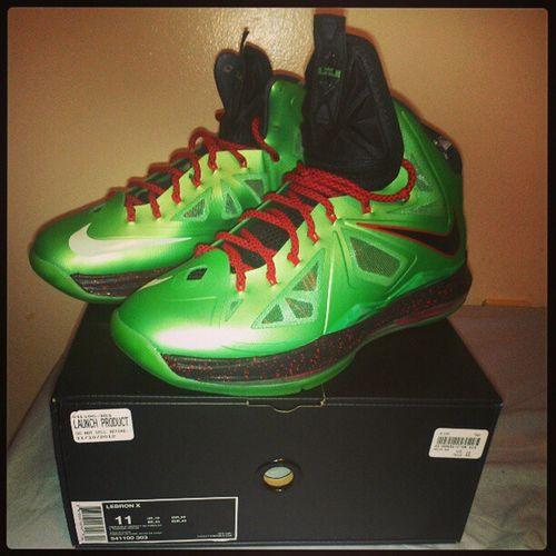 My new babies! LeBron X CuttingJade Lebronjade Cuttingjade Sneakerhead  Lebron swag dope