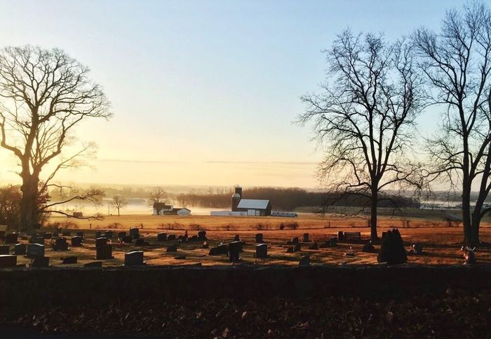 Honeybrook Pennsylvania, beautiful farm with the cemetery about that. Uncropped photograph. Uncropped The Week On EyeEm