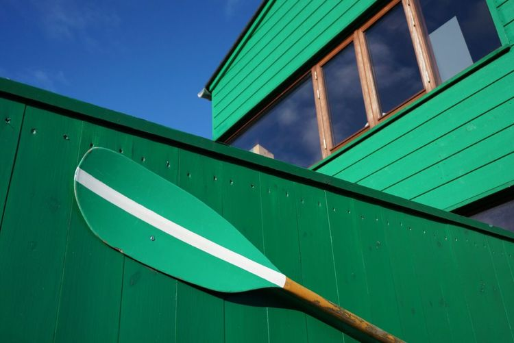 Oar Boats Building Boat The Architect - 2015 EyeEm Awards Green Green Green!  Architecture Copenhagen EyeEm Best Shots - Architecture City View  The Color Of Sport Boathouse Sailing Club Green Green Color Wall