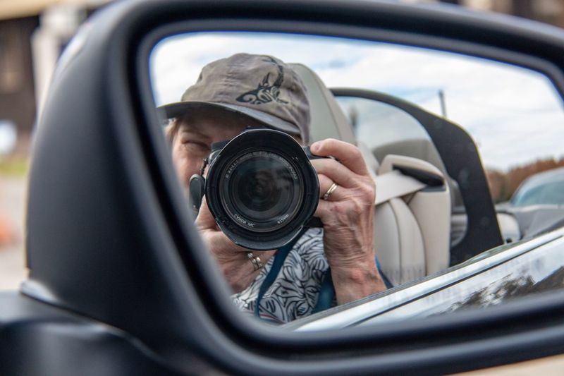 Moving along Mirrow Selfie Transportation Motor Vehicle Car Mode Of Transportation One Person Real People Camera - Photographic Equipment Reflection Outdoors Photographing Day Holding The Traveler - 2018 EyeEm Awards