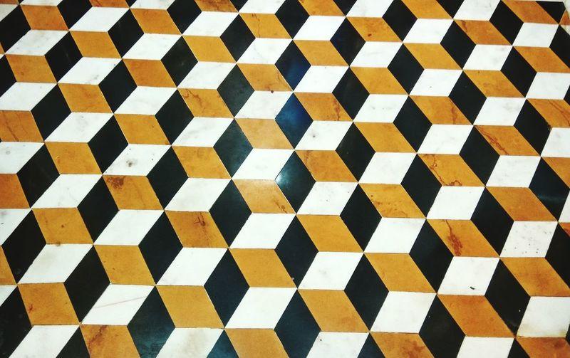Full frame shot of cube pattern