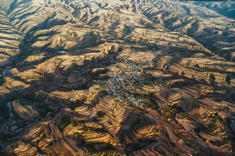 Full frame shot of land on mountain