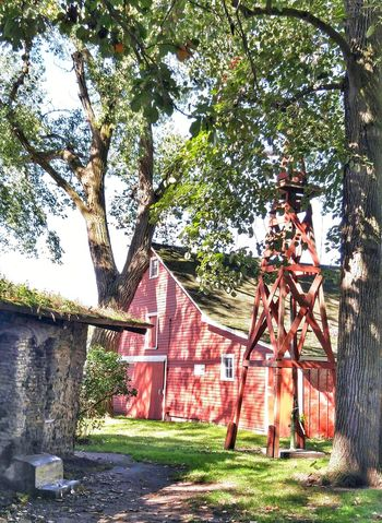 Rural Scene Outdoors Built Structure Out In The Sticks Down On The Farm Barnsnipers Big Red Barn Light And Shadow