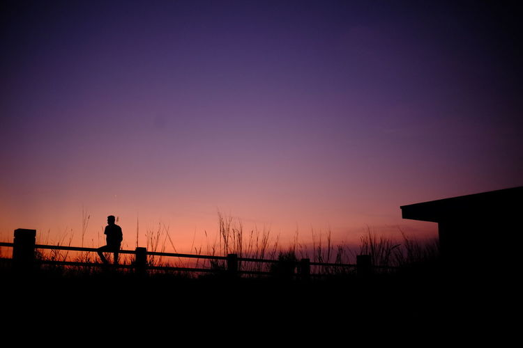 sunseter Oil Pump Sunset Silhouette Standing Sea Clear Sky Sky Tranquil Scene Calm Horizon Over Water Lakeside