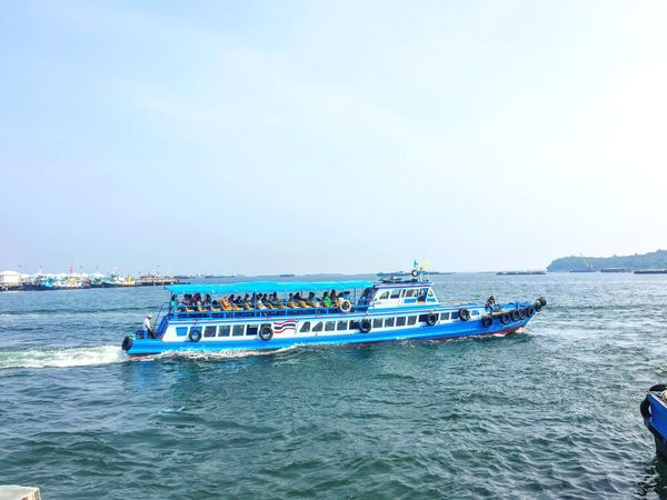 Let's Go. Together. Sea Nautical Vessel Water Beach Transportation Blue Day Nature Outdoors Mode Of Transport Scenics Beauty In Nature Sky Large Group Of People Horizon Over Water Astrology Sign People speed boat Thailand Koh Srichang EyeEm Selects heading to island and change to be islander!!!