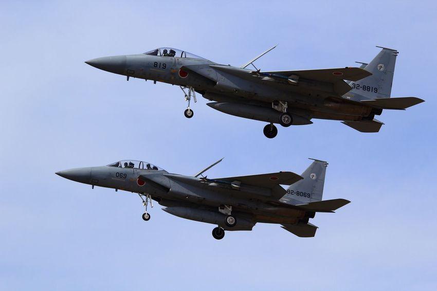 Formation Formation Komatsu Komatsu Airport Airplane R/W24 F-15 Eagle