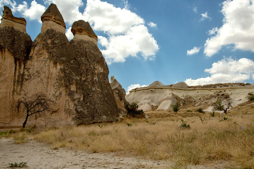 Cappadocia Cappadocia Cappadocia/Turkey Earth Rock Formation Turkey Beauty In Nature Cloud - Sky Environment Geological Formation Geological Landscape Geology Grass Land Landscape Mountain Nature Physical Geography Remote Rock Rock - Object Scenics - Nature Sky Tranquil Scene Tranquility Travel Destinations