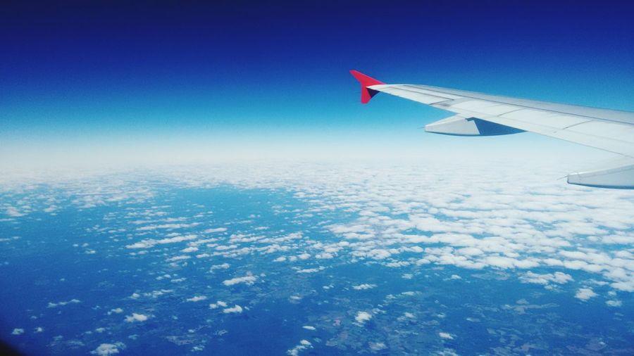 Human Meets Technology Blue Sky Blue Asas First Eyeem Photo