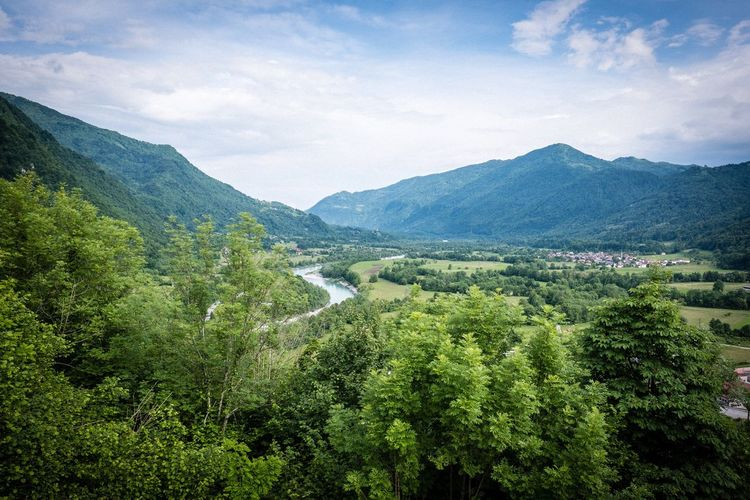 Kobarid Kobarid Slovenia Plant Beauty In Nature Scenics - Nature Growth Green Color Tree Tranquility Mountain Landscape Nature Outdoors Mountain Range