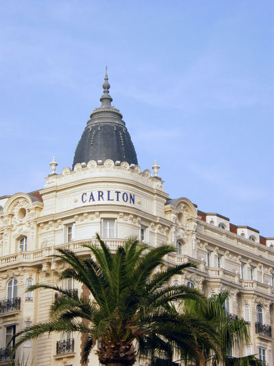 Cannes Belle Epoque architecture Architecture Avenue Belleepoque Building Exterior Built Structure Cannes CannesFilmFestival Carlton City Cityview Croisette Day Dome Famous Place Façade Hotel Low Angle View Luxury Luxury Hotel Luxurylife No People Outdoors Palm Tree Sky Travel Destinations