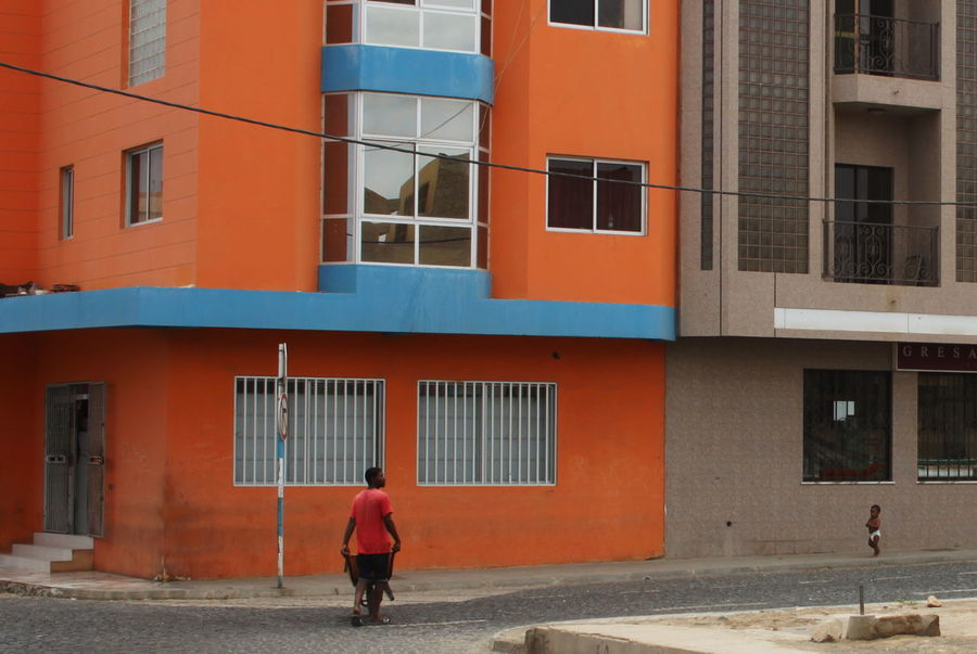 Adult Architecture Building Exterior Built Structure Capo Verde Child Espargos Full Frame Shot Full Length Outdoors Real People Sal Island Street Walking