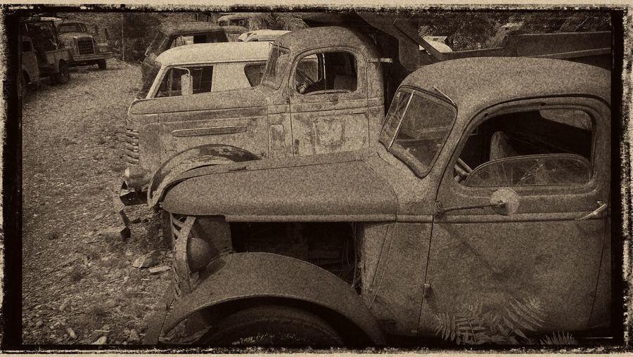 Abandoned Damaged Day Field Land Vehicle Locomotive Mode Of Transport No People Obsolete Outdoors Stationary Transportation