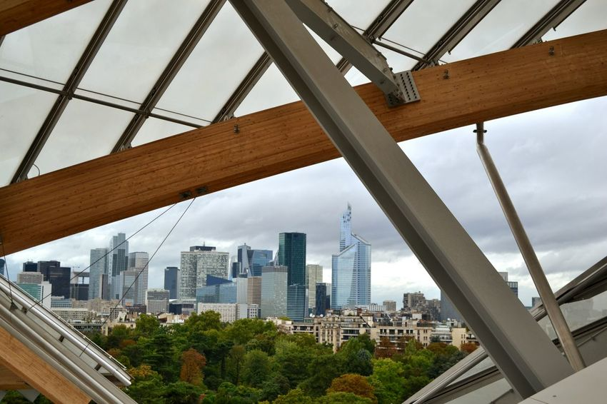 "View from the Fondation Louis Vuitton  at the Parisian ""Manhattan"" Skyscraper Paris Architecture Enjoying The View Modern Building Museum Art Open Edit EyeEm Best Shots Seeing The Sights Your Ticket To Europe"