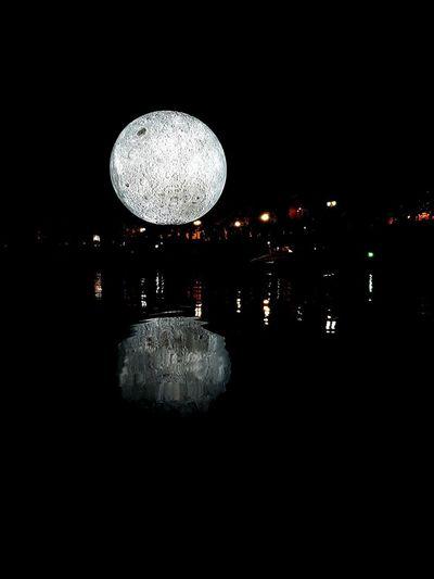 Night Water Moon Illuminated Baltanakts Installation Art Riga Rigailoveyou Latviabestcountry The Week On EyeEm EyeEmNewHere