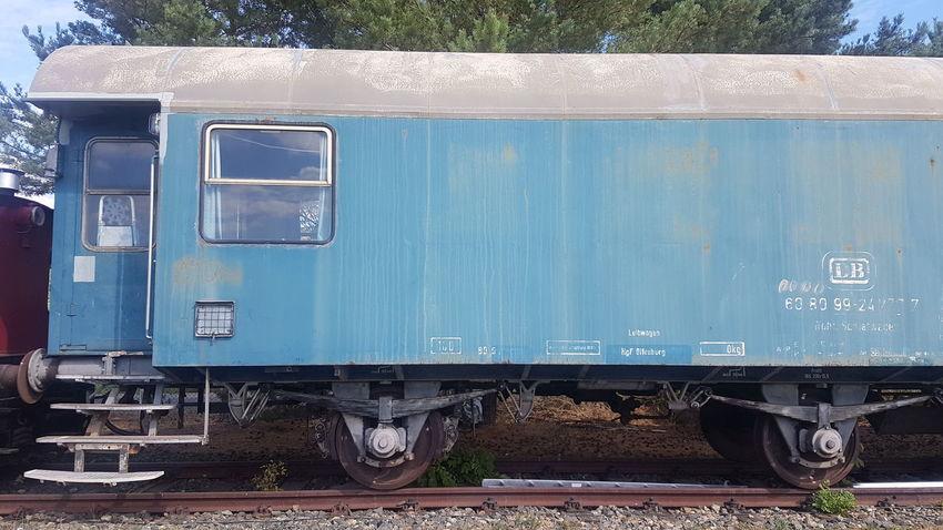 DB Deutsche Bahn Industrial Oldschool Ausrangiert Abgestellt Freight Transportation Train - Vehicle Railroad Track Cargo Container Steam Train Sky
