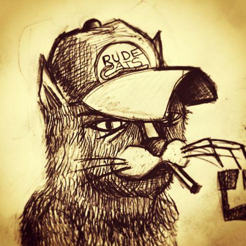 Cat Cats Dessin Sketch Tattooflash Drawing Draw Tattoo ❤ Tieumdekotattoo Lovecats