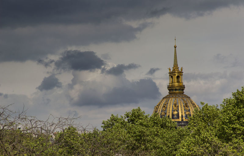 View of building against cloudy sky