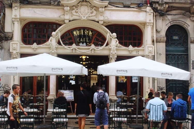 Café Majestic Porto Drinks Terrace Santa Catarina Rua Santa Catarina Street Portugal Porto Cafe Majestic Majestic Coffe Shop Cafe Beer Coffee Day Outdoors Women City Adult People