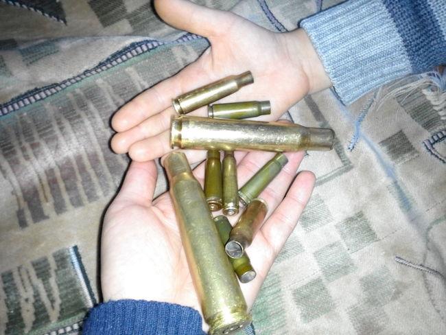 Ablukadan sonra topladığımiz mermiler...
