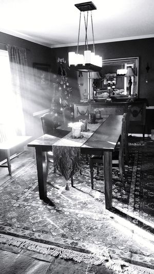 Afternoon sunlight across dining room at Halwin House, Dallas, TX Table Home Interior Domestic Room Peaceful Spaces Fleeting Light