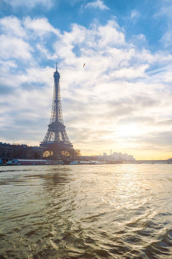 Effel Tower Blue Sky Built Structure City Cityscape Cloud - Sky Day Effel Tower France Icon Of France No People Outdoors Paris, France  River Sky Sunset Tower Travel Travel Destinations Traveling
