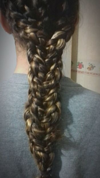 Long Hair Braided Hair Braids By Me Braid Hairstyle Dyed Hair One Woman Only Human Hair