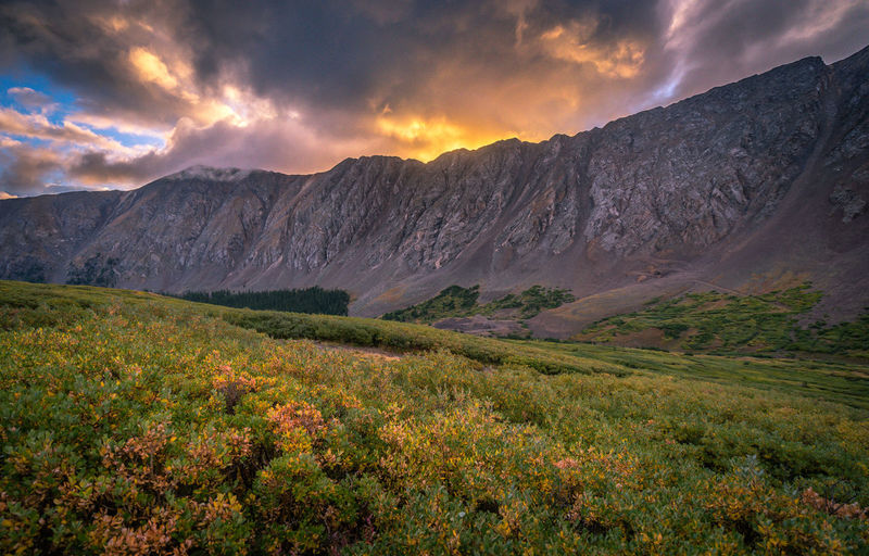 Beauty In Nature Cloud - Sky Environment Idyllic Land Landscape Mountain Mountain Range Nature No People Non-urban Scene Outdoors Plant Remote Scenics - Nature Sky Sunset Tranquil Scene Tranquility