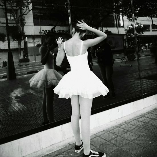 Close encounters Vscox Streetphotography Blackandwhite Ballet Dancer Females Ballet Fashion Arts Culture And Entertainment Tutu Dancer Stories From The City Inner Power International Women's Day 2019