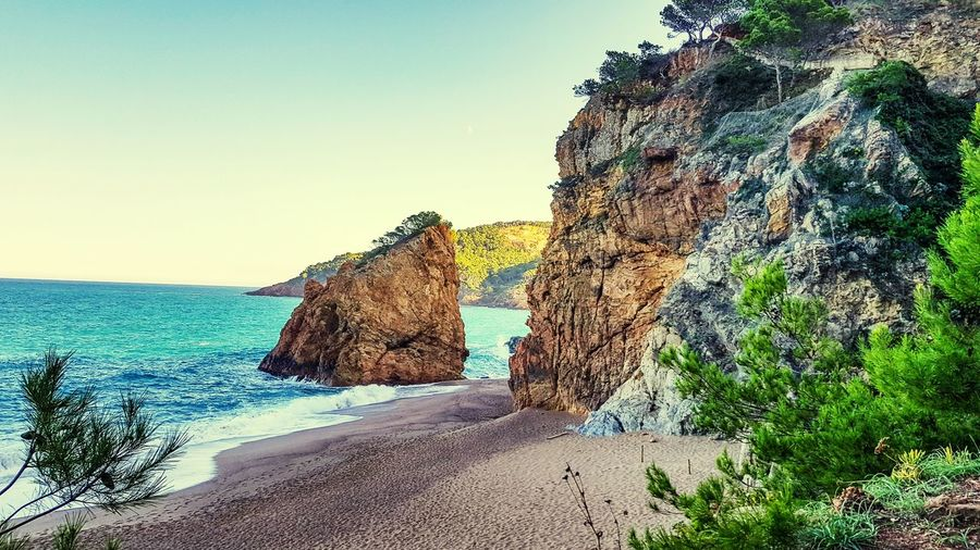 Catalonia Catalonia Beach Sea Beach Nature Sand Beauty In Nature Rock - Object Sky Water Scenics Tranquility Horizon Over Water Outdoors Day No People Clear Sky Second Acts EyeEmNewHere Be. Ready.