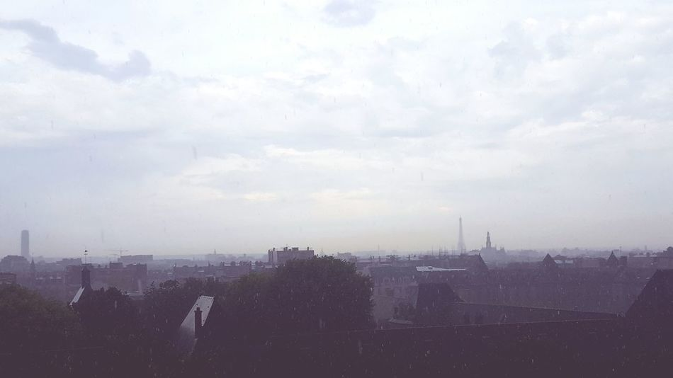 Fog Cloud - Sky Tree City No People Skyscraper Sky Outdoors Urban Skyline Day Hurricane - Storm Cityscape Raining Rainy Days Paris ❤ Eiffel Tower Clouds And Sky City